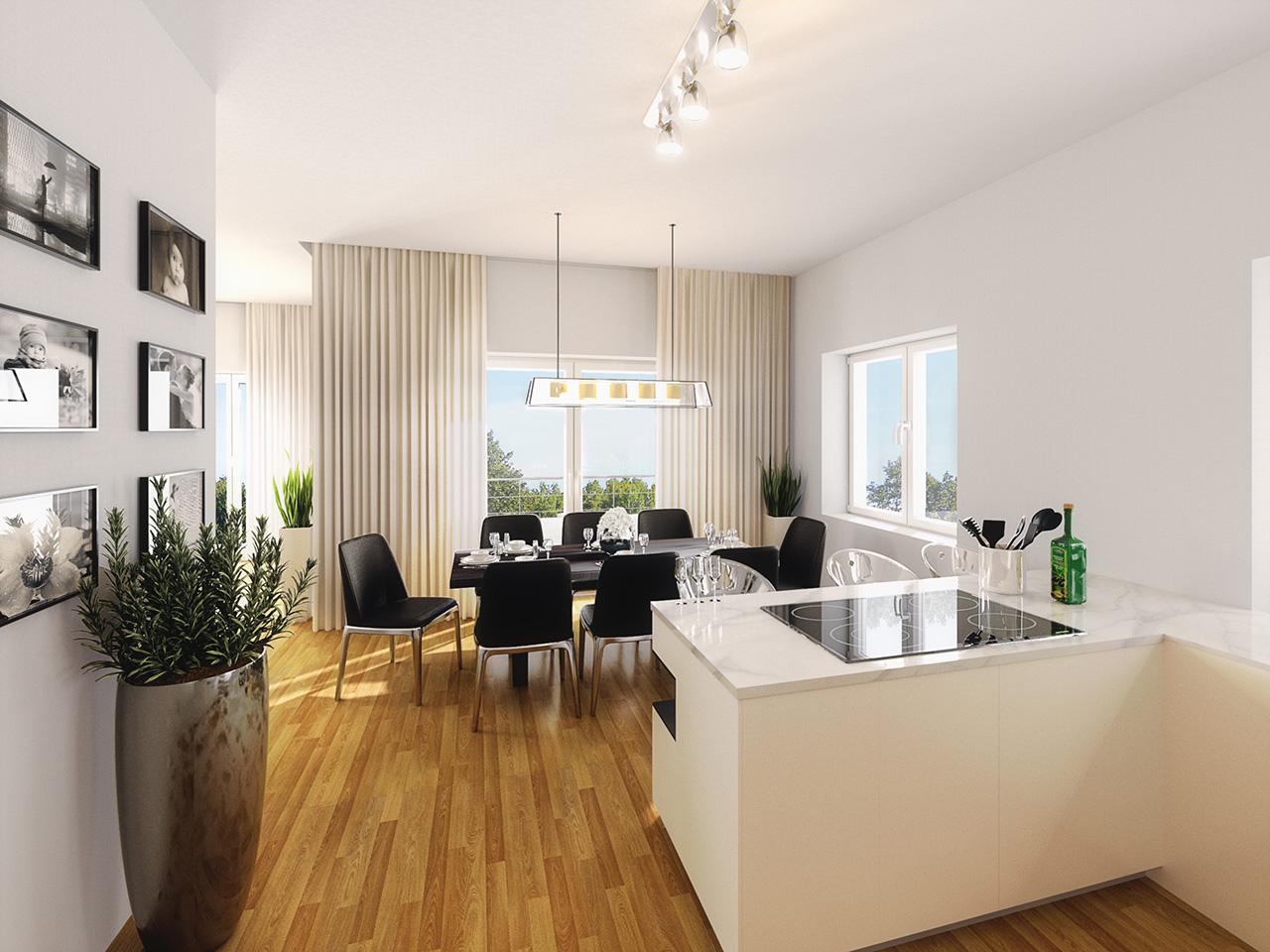 Parkwohnungen Carlshöhe Küche & Essbereich | LOOQ-MEDIA